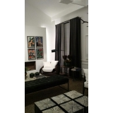 cortina persiana preta Cidade Dutra